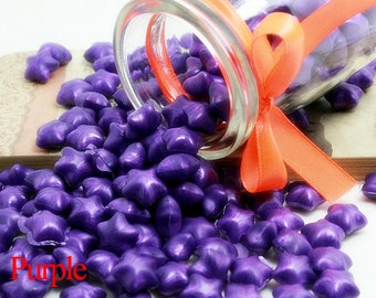 10/20/50/100pcs Purple Lucky star shaped Sealing Wax Sticks for Wax Seal Stamp