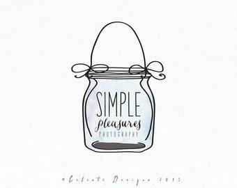 Premade Logo - mason jar logo   photography logo