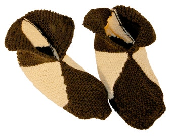 Knitted wool slippers
