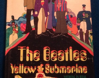 Vintage Very Rare The Beatles Yellow Submarine First Edition Hardbound Issue.