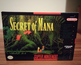 SNES Secret of Mana  - Repro Box and Insert NO Game Included