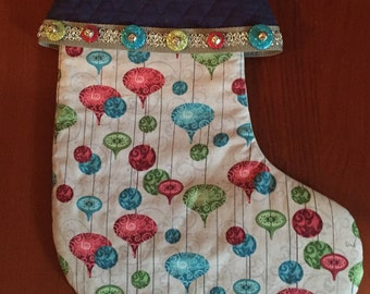 Jewel Toned Ornament Stocking