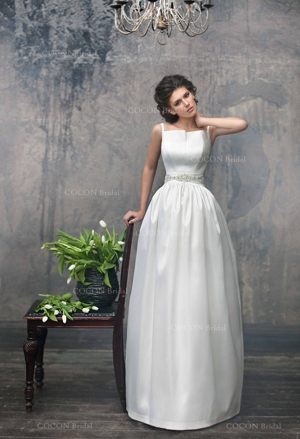 simple chic wedding dress from mikado designer dress unique