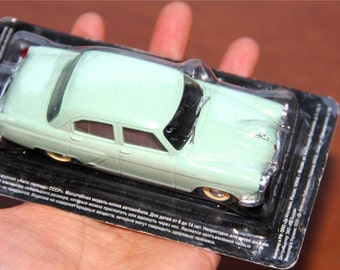 Ussr VTG Volga GAZ M-21 Light Green Old Car Tin Toy Model 1:43, Sealed in Box! Rare!