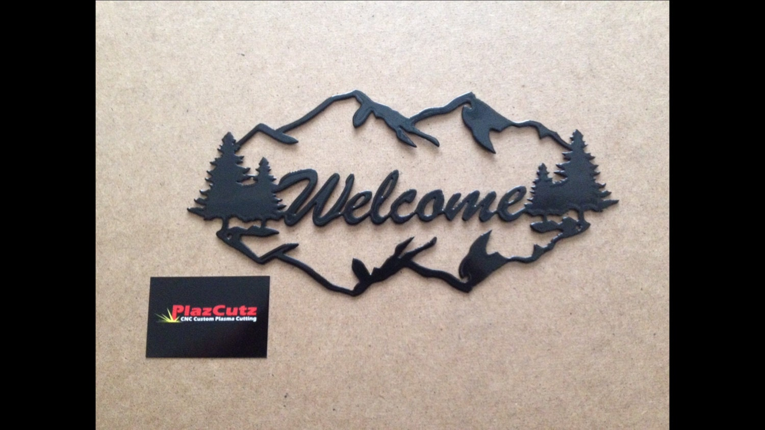 Welcome Sign Wall Plaque Cnc Plasma Cut And Powder Coated In
