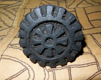 African Carved Wood Stamps For Fabric, Paper, Clay, Ghana *3