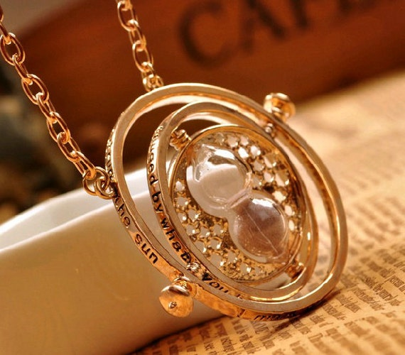 harry potter necklaces Golden harry potter time turner necklaces jewelry Christmas gifts time turner jewelry