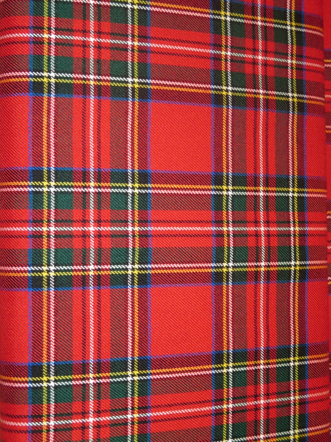 Sale By 5 Yards Red Royal Stewart Tartan Fabric Viscose Poly