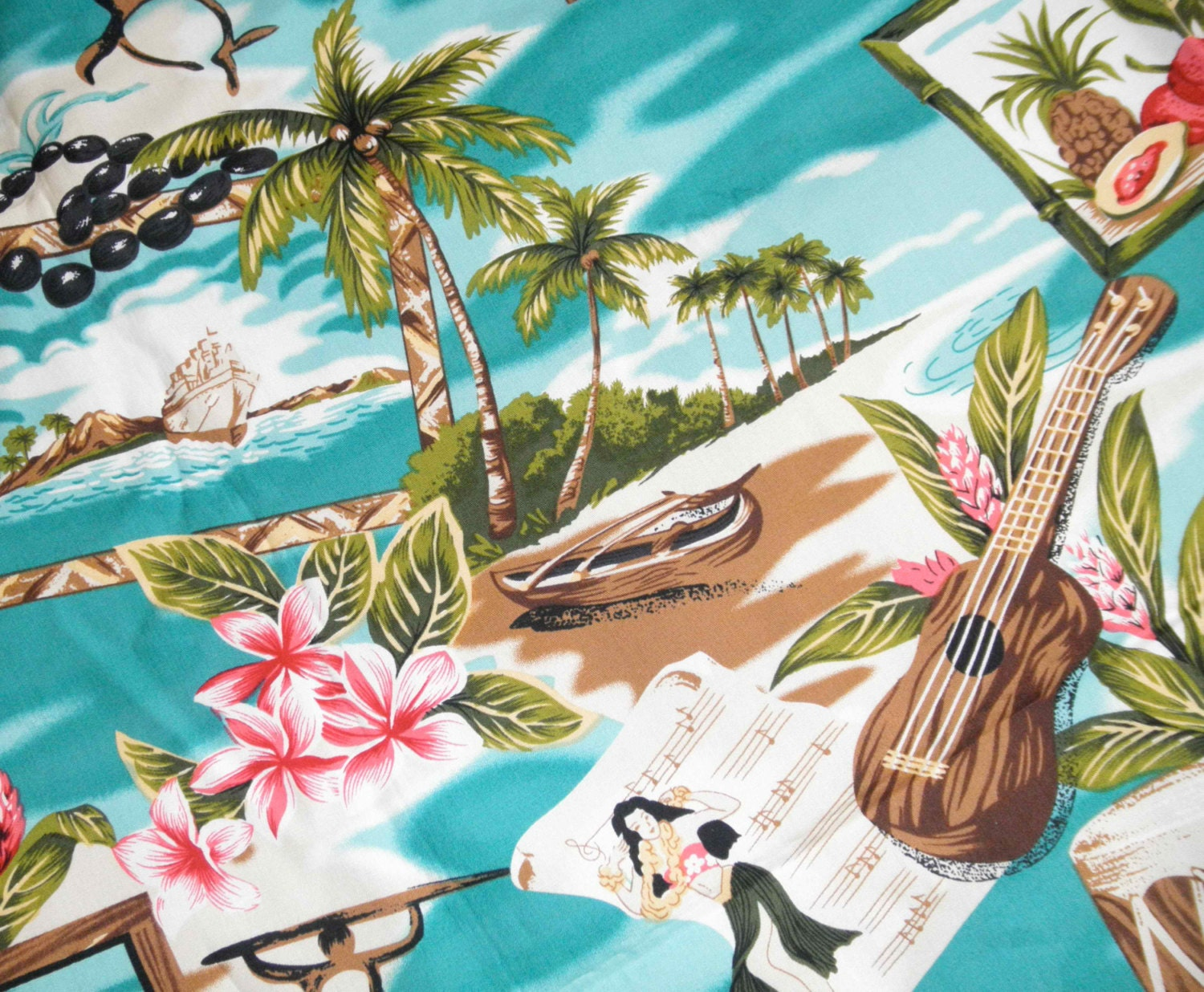 Tropical Home Decor Fabric Fabric Remnant Sale 2 Yard Beautiful Vintage Looking All