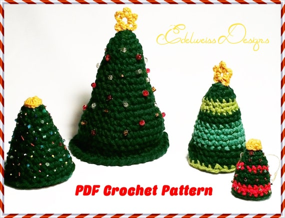Christmas tree crochet patterns star crown top amp trees super easy