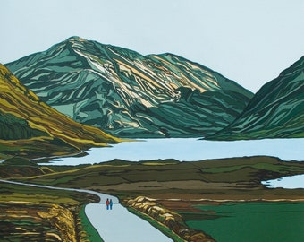 Walking Through Connemara Painting