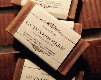 Guinness Beer Soap Natural Homemade Soap - Leather Scent