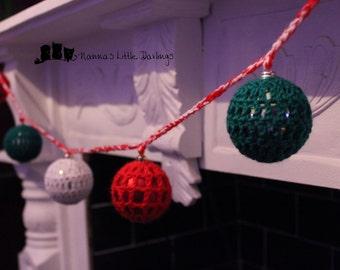 Crochet Christmas Garland hanging decorations