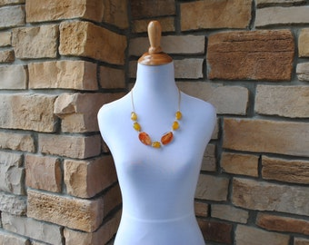 Amber Gemstone Necklace