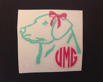 Lab Monogram Vinyl Decal