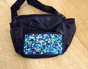 Gorgeous blue sparkle bum bag fanny pack