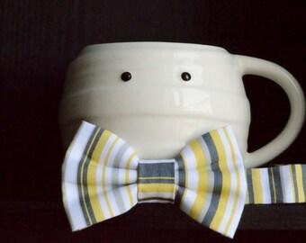 Citrus Stripe - Summer Fun Adjustable Bowtie - Bow Tie - Adjustable Bowtie