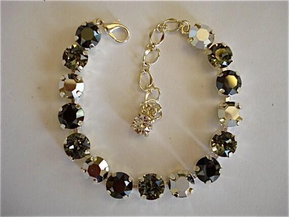 swarovski crystal sparkling silver tennis bracelet 8mm tennis. Black Bedroom Furniture Sets. Home Design Ideas