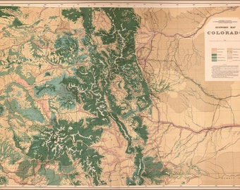 24x36 Poster; Economic Map Of Colorado 1877
