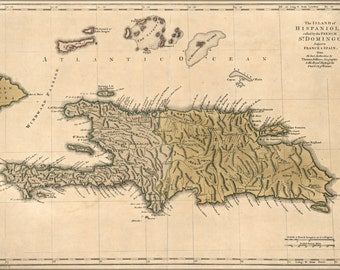 24x36 Poster; Map Of Hispaniola Haiti Dominican Republic 1762