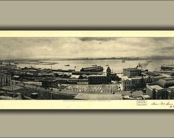 24x36 Poster; View Of Harbor San Juan Puerto Rico 1927