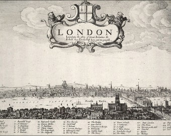 24x36 Poster; London, England 17Th Century