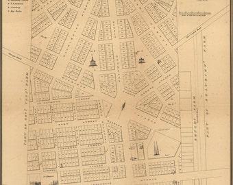 24x36 Poster; Map Of Detroit, Michigan, 1831