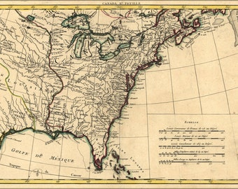 24x36 Poster; Map Of North America 1776 American Revolution
