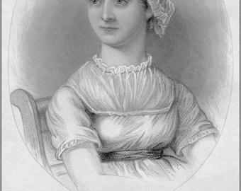 24x36 Poster; Jane Austen, From A Memoir Of Jane Austen P2