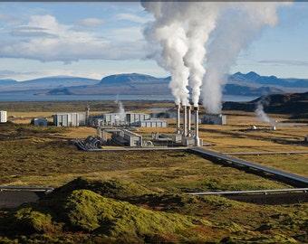 24x36 Poster; Nesjavellir Geothermal Power Plant In Iceland