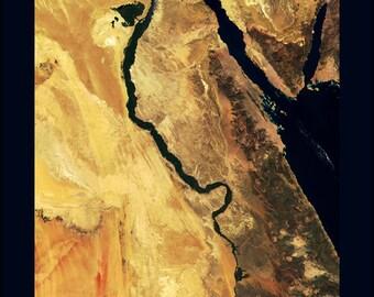 24x36 Poster; Nile River Egypt Nile Sat