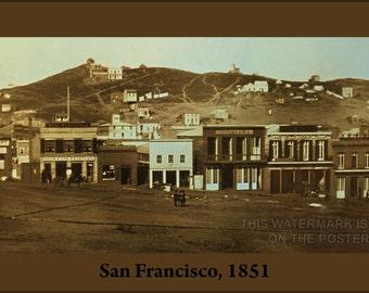 24x36 Poster; San Francisco, 1851