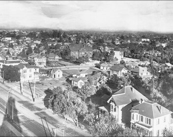 24x36 Poster; Panoramic View Of Downtown Los Angeles Including St. Vincent'S College, Ca.1905 (2115) #031215
