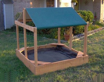 Brand New Large Canopy Sandbox with Cover, 5 Feet Square - Free Shipping