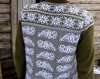 Virgin Wool Sweater new brand tulentulen (tulen=seal)