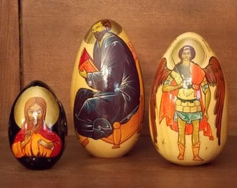Russian Religious Icon Eggs