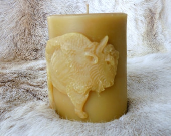 Bison Buffalo Beeswax Candle