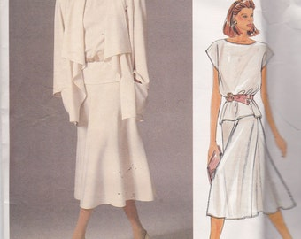 Vogue 1387 American Designer Pattern John Anthony Jacket, Top and Skirt Size 10 UNCUT