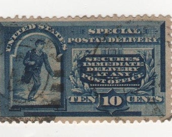 10 cent 1888 Special Delivery (Scott's E 2) Single Stamp, Used