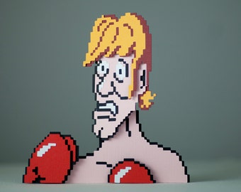 Glass Joe    - Punch Out     - 3D papercut