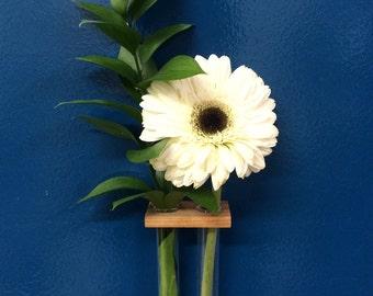 Double stem magnetic vase
