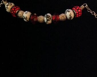 Large hole bead bracelet