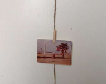 Shabby Chic Home Decor Photo String - 3 clips Handmade