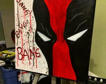 Deadpool Marvel Comics Painting Art Canvas