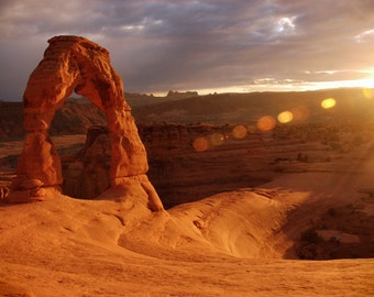 A Sunset Delight at Delicate Arch in Utah Photograph