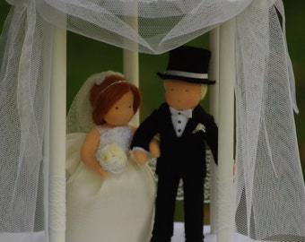 Wedding doll, Wedding dolls gift, wedding cake topper, Wedding couple, Waldorf dolls, Bride, Groom, Wedding ceremony, cake topper figurine