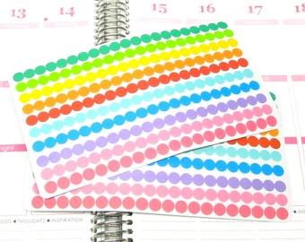Mini Rainbow Dots Planner Sticker fits Erin Condren Life Planner (ECLP) Reminder Sticker 1445