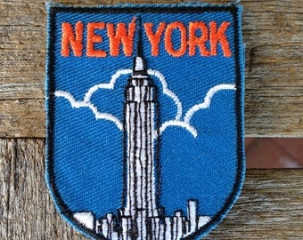 New York City Vintage Souvenir Travel Patch from Voyager - LAST ONE!