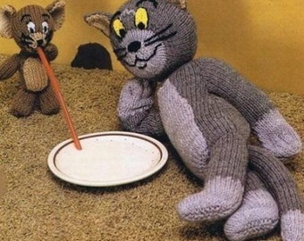 tom and jerry toy dk knitting pattern 99p
