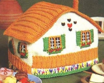 chalet tea cosy dk knitting pattern 99p